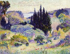 Cypress, April 1904 | Henri Edmond Cross