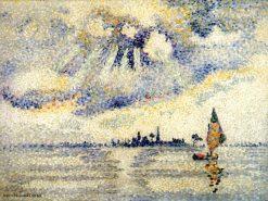 Sunset on the Lagoon, Venice 1903-1904 | Henri Edmond Cross