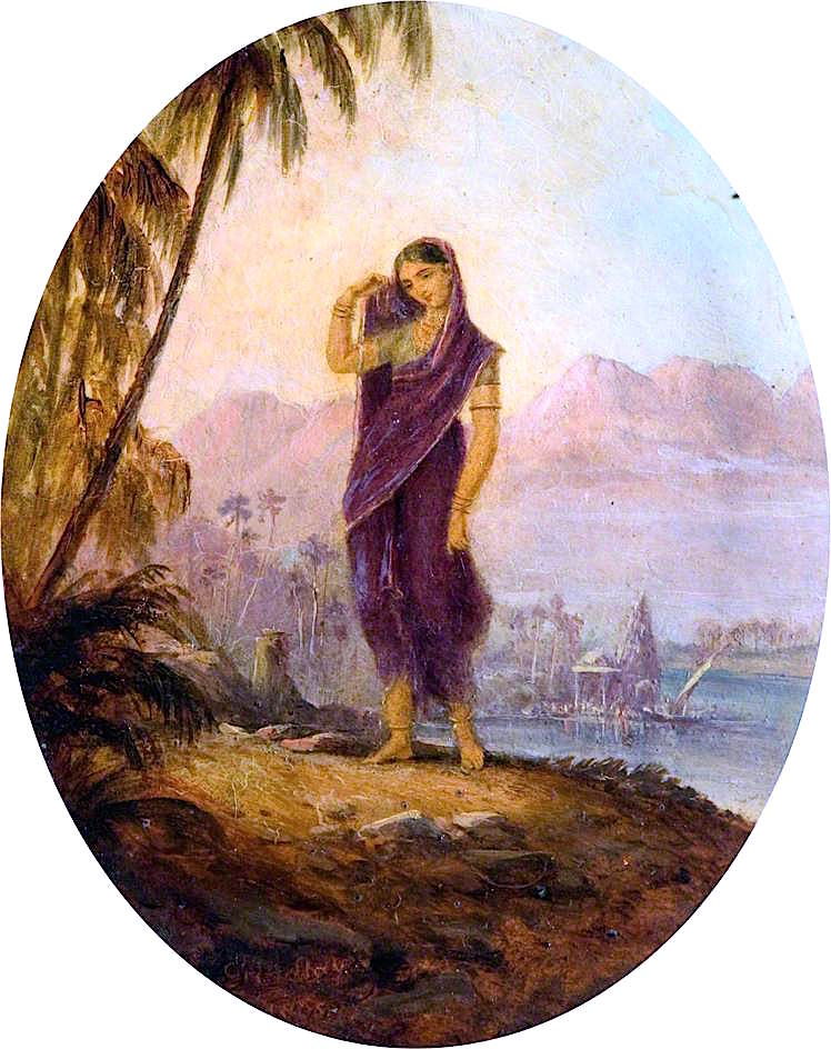 A Hindoo Female of the Deccan and Concane | Robert Melville Grindlay | oil painting
