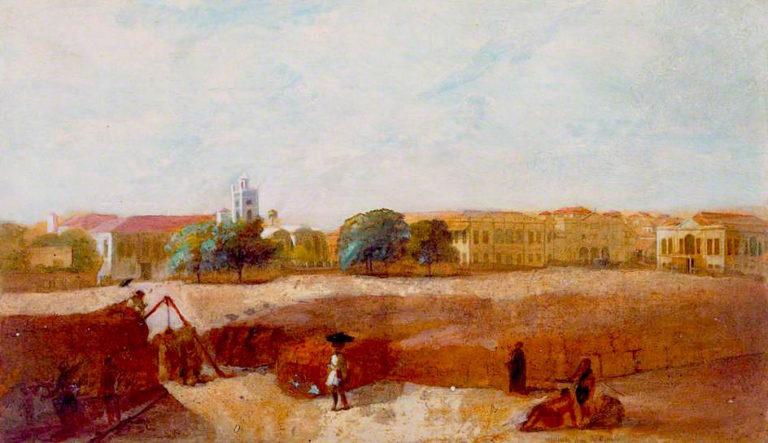 Bombay Green   Robert Melville Grindlay   oil painting