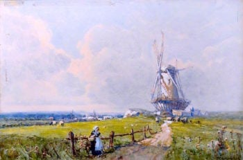 Dutch Mill | Ferdinand E. Gröne | oil painting