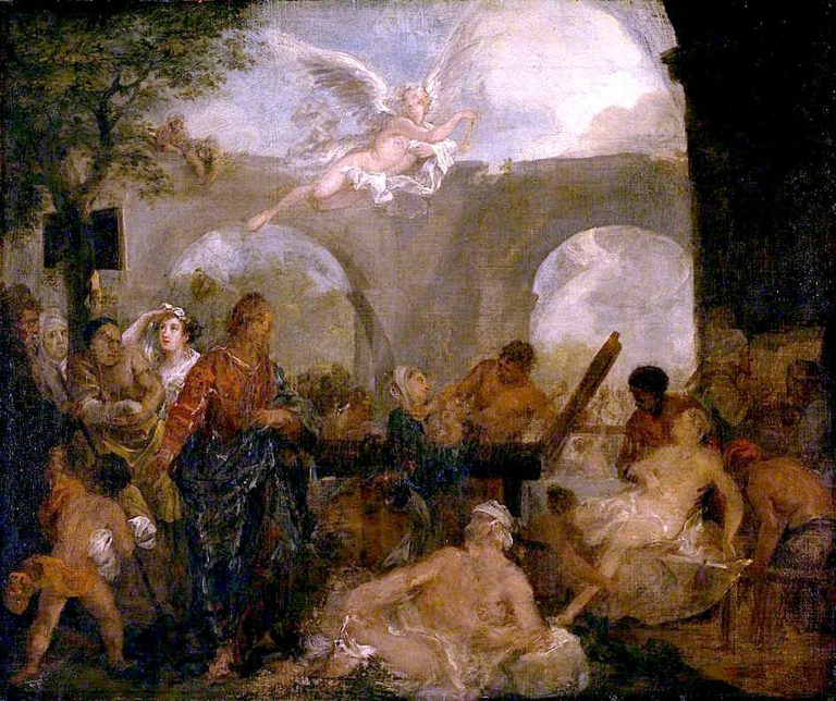 The Pool of Bethesda (sketch) | William Hogarth | oil painting