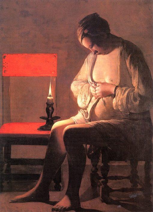 The Flea Catcher | Georges de La Tour | oil painting