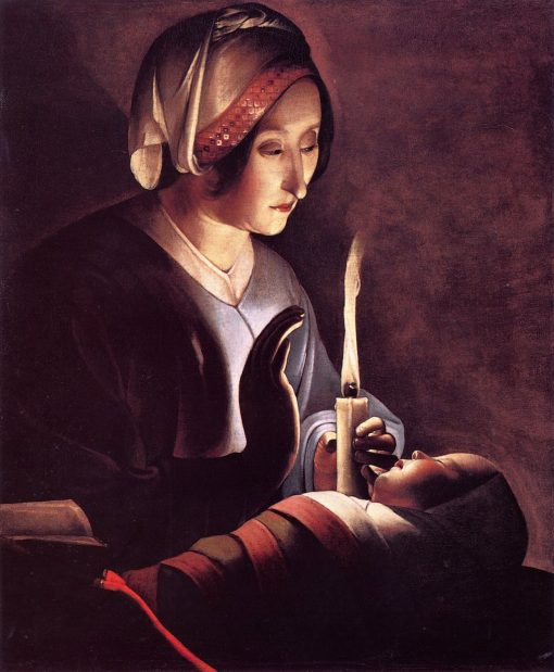 Saint Anne with the Christ Child | Georges de La Tour | oil painting