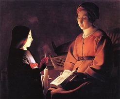 The Education of the Virgin | Georges de La Tour | oil painting