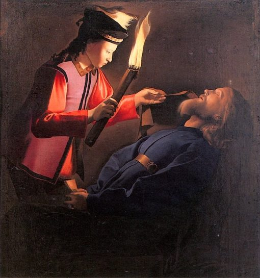 The Discovery of Saint Alexis   Georges de La Tour   oil painting