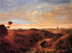 Maoris Returning from Fishing -  Evening View of East Tamski   Albin Martin   oil painting