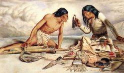 The Game of Bones | William George Richardson Hind | oil painting