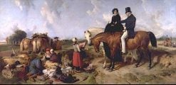 A Dialogue at Waterloo | Sir Edwin Landseer | oil painting