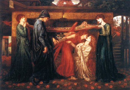 Dantes Dream at the Time of the Death of Beatrice | Dante Gabriel Rossetti | oil painting