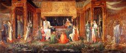 The Sleep of King Arthur in Avalon   Sir Edward Burne-Jones   oil painting