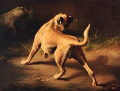 A Dog on Alert | Sir Edwin Landseer | oil painting
