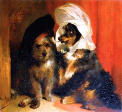 Comical Dogs | Sir Edwin Landseer | oil painting