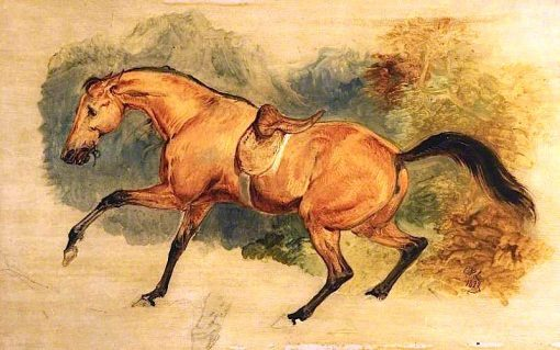 Count dOrsays Charger   Sir Edwin Landseer   oil painting