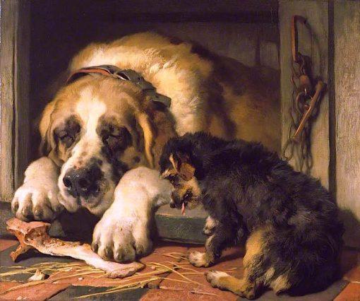 Doubtful Crumbs | Sir Edwin Landseer | oil painting