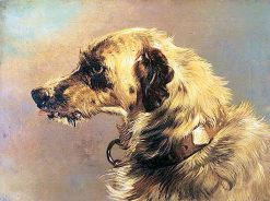 Head of a Deer Hound | Sir Edwin Landseer | oil painting