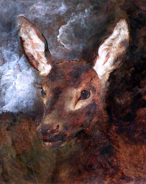 Head of a Hind | Sir Edwin Landseer | oil painting