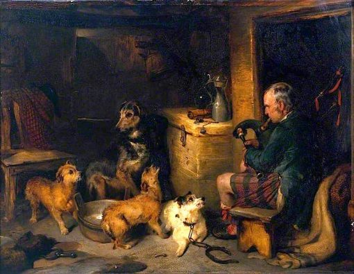 Highland Music | Sir Edwin Landseer | oil painting