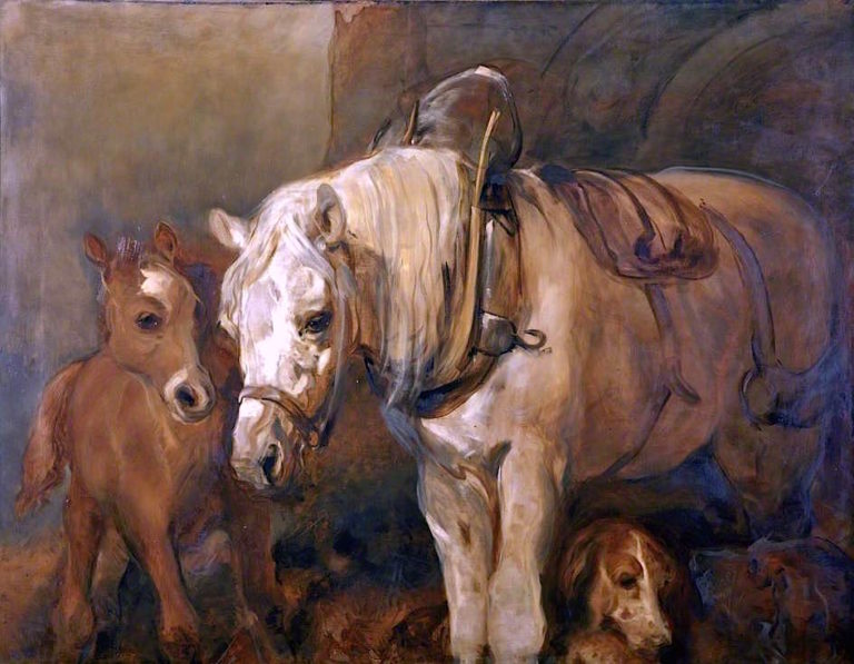 Mare and Foal | Sir Edwin Landseer | oil painting