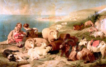 On the Downs | Sir Edwin Landseer | oil painting