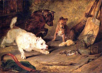 Ratcatchers   Sir Edwin Landseer   oil painting