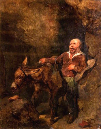Sancho Panza and Dapple | Sir Edwin Landseer | oil painting