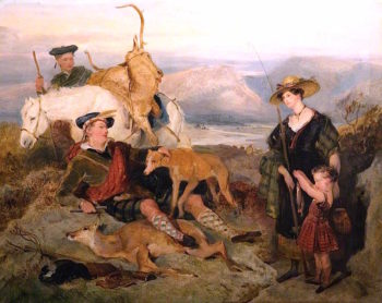 Sketch for Deer - Stalking in the Highlands | Sir Edwin Landseer | oil painting