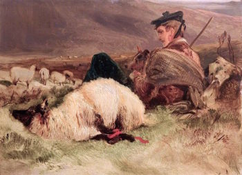 Sketch in the Highlands | Sir Edwin Landseer | oil painting
