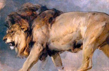 Study of a Lion | Sir Edwin Landseer | oil painting