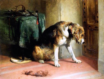 Suspense | Sir Edwin Landseer | oil painting
