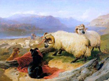 Tethered Rams | Sir Edwin Landseer | oil painting