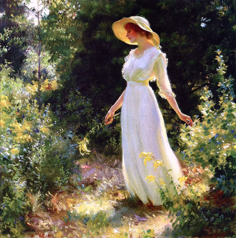 A Spray of Goldenrod   Charles Courtney Curran   oil painting