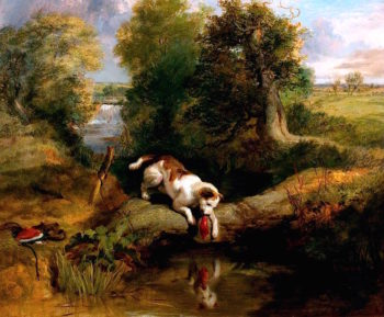 The Dog and the Shadow | Sir Edwin Landseer | oil painting