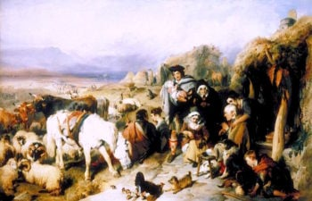 The Drovers Departure -  A Scene in the Grampians | Sir Edwin Landseer | oil painting