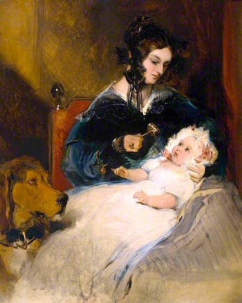 The Duchess of Abercorn and Child | Sir Edwin Landseer | oil painting