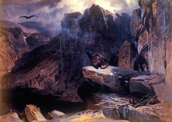 The Eagles Nest | Sir Edwin Landseer | oil painting