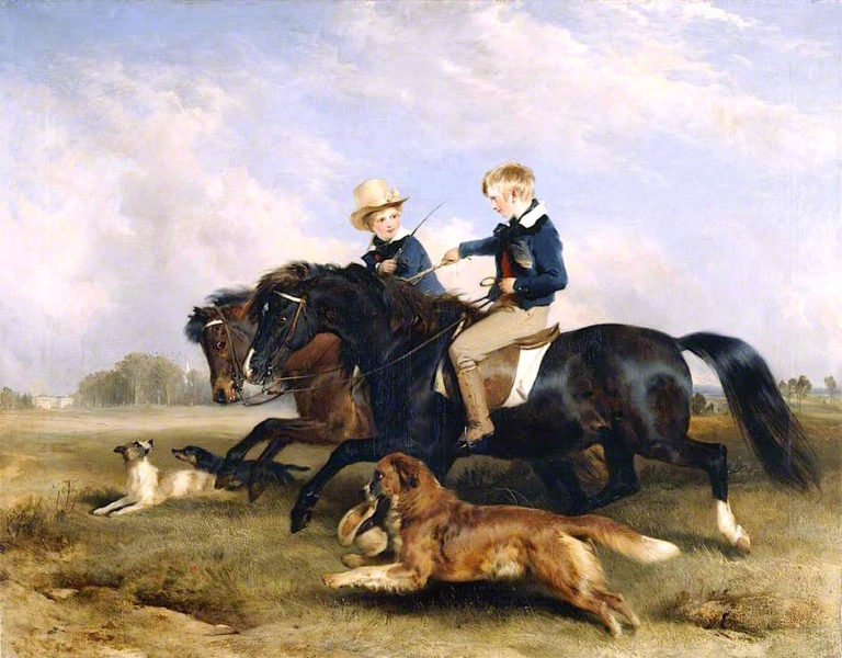 The Honourable E. S. Russell and His Brother | Sir Edwin Landseer | oil painting
