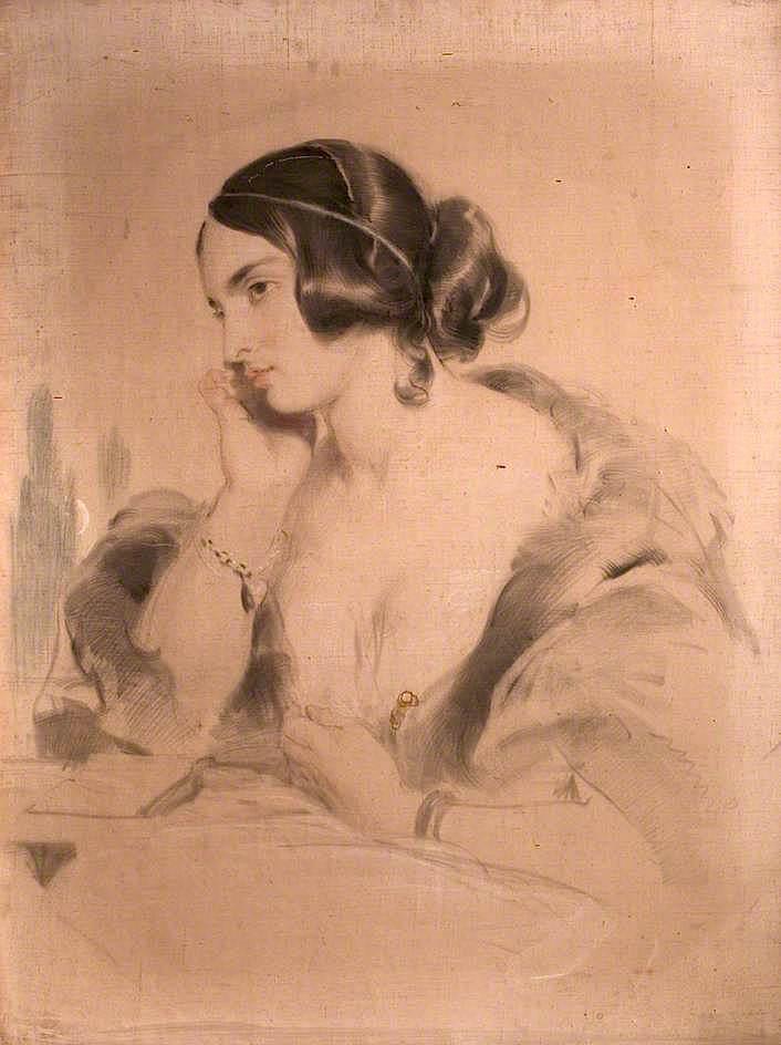The Honourable Mrs Norton | Sir Edwin Landseer | oil painting