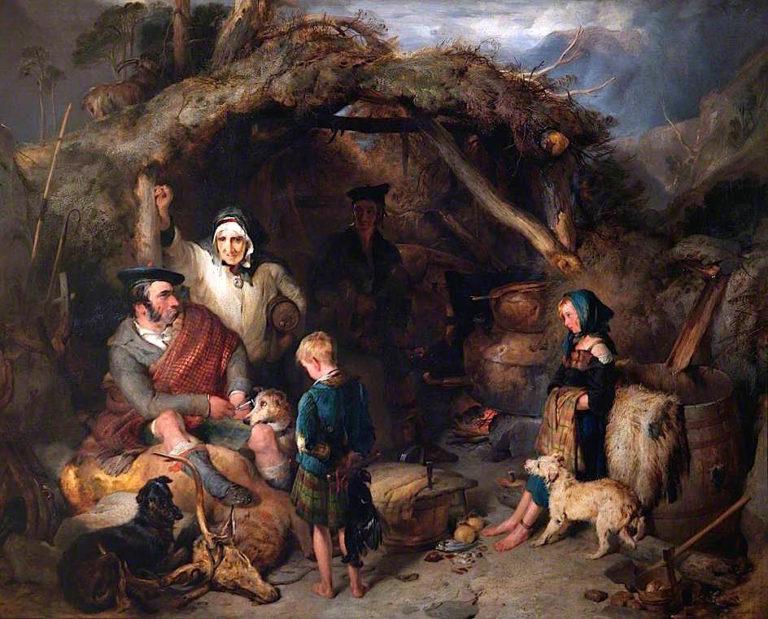 The Illicit Highland Whisky Still | Sir Edwin Landseer | oil painting