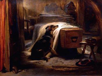 The Old Shepherds Chief Mourner | Sir Edwin Landseer | oil painting