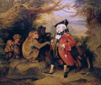 The Travelled Monkey | Sir Edwin Landseer | oil painting