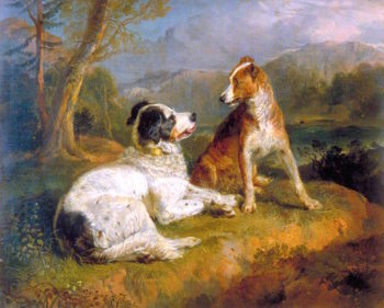 The Twa Dogs | Sir Edwin Landseer | oil painting