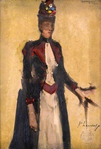 The Honourable Miss Cochrane - Baillie (sketch) | Sir John Lavery