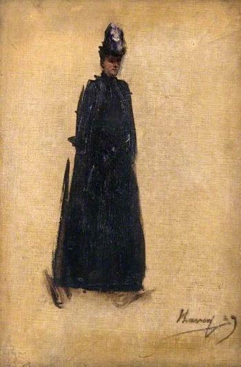 The Honourable Mrs Maxwell - Scott (sketch) | Sir John Lavery