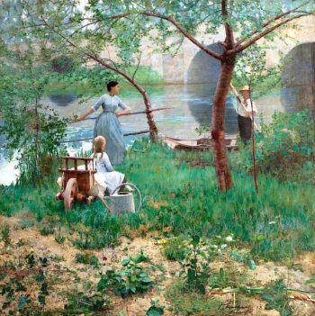 Under the Cherry Tree | Sir John Lavery