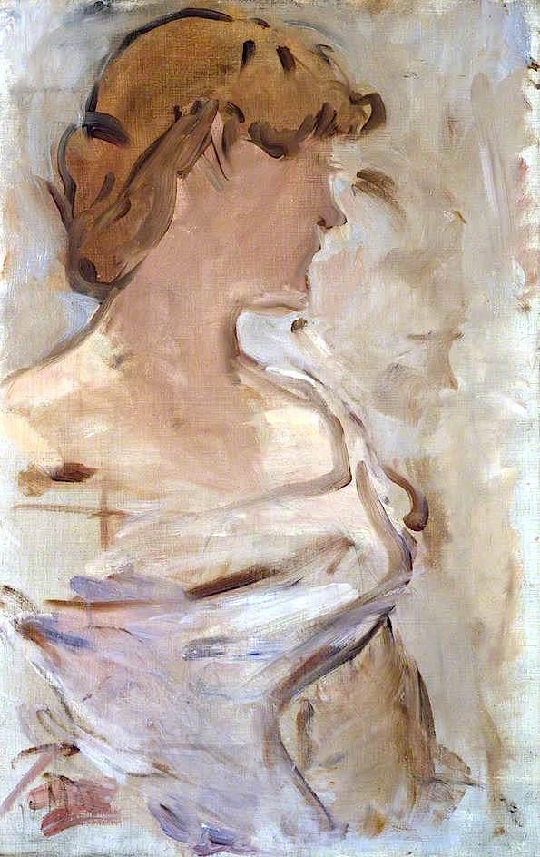 Au Bal – Marguerite de Conflans en toilette de bal   edouard Manet   oil painting
