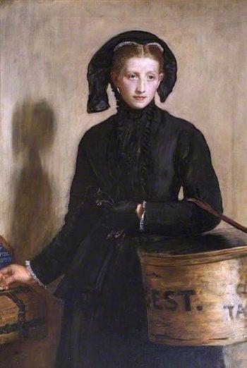 A Widows Mite | John Everett Millais | oil painting