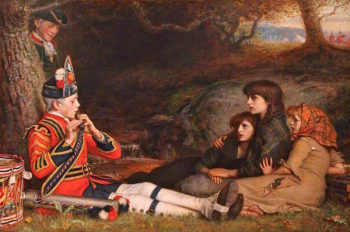 An Idyll of 1745 | John Everett Millais | oil painting