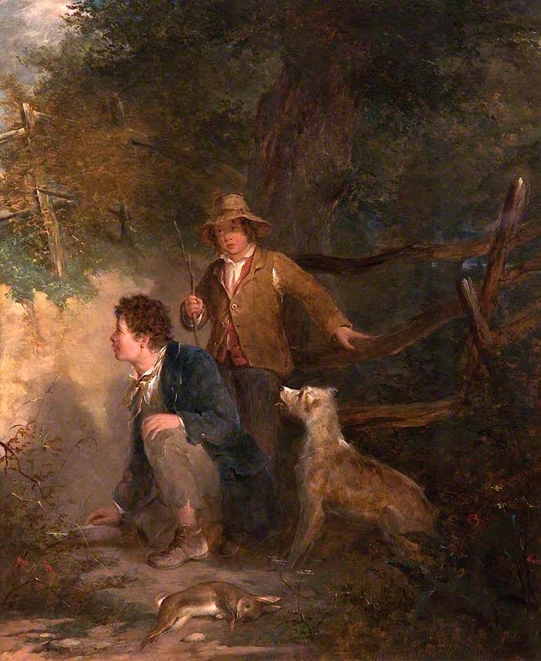Boys Rabbiting | John Everett Millais | oil painting