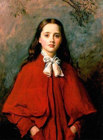 Bright Eyes | John Everett Millais | oil painting